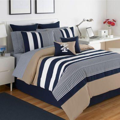 izod classic stripe twin comforter set