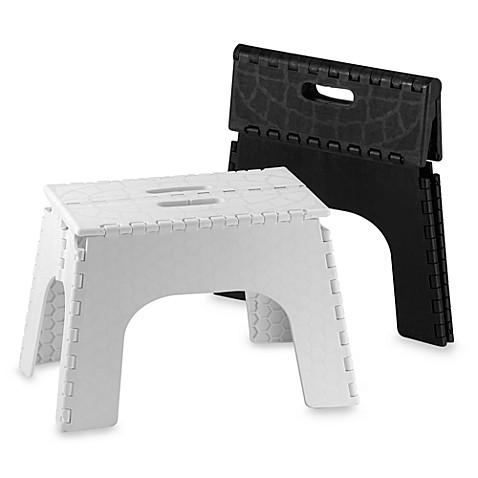 ez foldz 12 inch folding step stools bed bath beyond. Black Bedroom Furniture Sets. Home Design Ideas