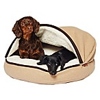 Precious Tails Felt 25-Inch Cave Pet Bed in Tan
