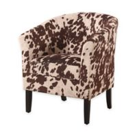 Simon Retro Modern Club Chair in Udder Madness Microfiber