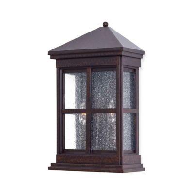 minka lavery berkeley 2 light wall mount pocket lantern in rust with - Decorative Lanterns