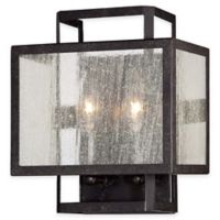 Minka Lavery® Camden Square 2-Light Flush-Mount Wall Sconce in Charcoal