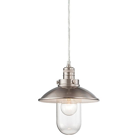 Minka Lavery Downtown Edison 1 Light Mini Pendant In Brushed Nickel Bed Bath Beyond
