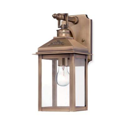 Minka Lavery® Eastbury 1 Light Wall Mount Outdoor Lantern In Brass With  Glass