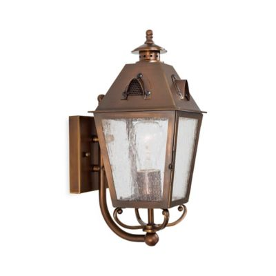 Brass Outdoor Light Fixtures Buy brass outdoor lighting from bed bath beyond minka lavery edenshire 1 light wall mount outdoor light in english brass with workwithnaturefo