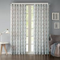 INK+IVY Hawthorne 95-Inch Rod Pocket Window Curtain Panel in Indigo