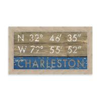 Charleston, South Carolina Coordinates Framed Wall Art