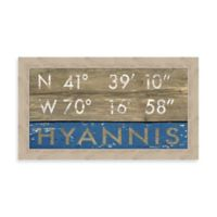 Hyannis MA Coordinates Framed Wall Art