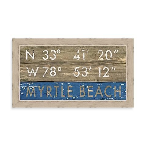 Myrtle Beach South Carolina Coordinates Framed Wall Art Bed Bath Beyond