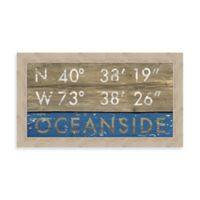 Oceanside Coordinates Framed Wall Art