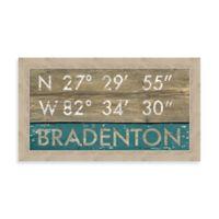 Bradenton, Florida Coordinates Framed Wall Art