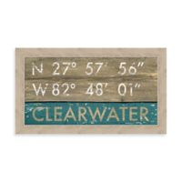 Clearwater, Florida Coordinates Framed Wall Art