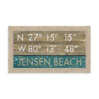 Jensen Beach, Florida Coordinates Framed Wall Art