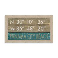 Panama City Beach, Florida Coordinates Framed Wall Art