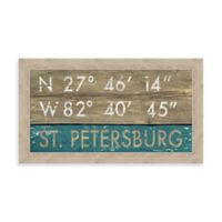 St. Petersburg, Florida Coordinates Framed Wall Art
