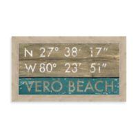 Vero Beach, Florida Coordinates Framed Wall Art