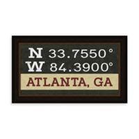 Atlanta Georgia Coordinates Framed Wall Art