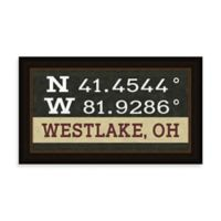 West Lake Ohio Coordinates Framed Wall Art