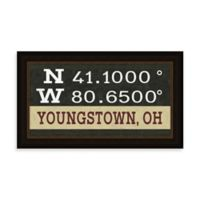 Youngstown Ohio Coordinates Framed Wall Art