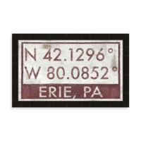 Erie PA Coordinates Framed Wall Art