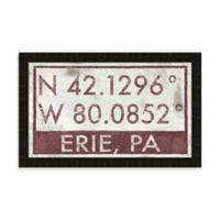 Erie PA Coordinates Framed Wall Art