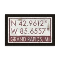 Grand Rapids MI Coordinates Framed Wall Art