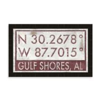 Gulf Shores Coordinates Framed Wall Art