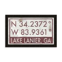Lake Lanier Georgia Coordinates Framed Wall Art