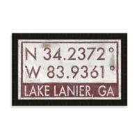 Lake Lanier Georgia Coordinates Framed Wall Art