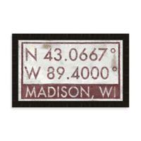 Madison, WI Map Coordinates Sign