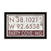 Party Cove Missouri Coordinates Framed Wall Art