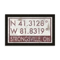 Strongsville Ohio Coordinates Framed Wall Art