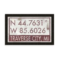 Traverse City MI Coordinates Framed Wall Art