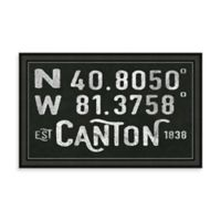 Canton Ohio Coordinates Framed Wall Art