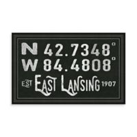 East Lansing MI Coordinates Framed Wall Art