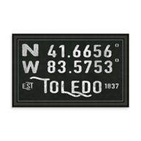 Toledo Ohio Coordinates Framed Wall Art