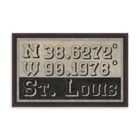 St. Louis Missouri Coordinates Framed Wall Art