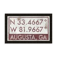 Augusta Georgia Coordinates Framed Wall Art