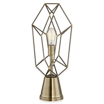fangio lighting heater cube. pacific coast® lighting capital table lamp in antique brass fangio heater cube