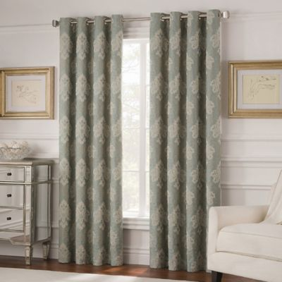 Valeron Belvedere 63 Inch Grommet Top Room Darkening Window Curtain Panel  in Spa. Buy Room Darkening Curtains from Bed Bath   Beyond