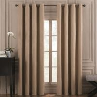 Valeron Belvedere Solid 108-Inch Grommet Top Room-Darkening Window Curtain Panel in Mocha