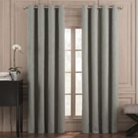 Valeron Belvedere Solid 95-Inch Grommet Top Room-Darkening Window Curtain Panel in Blue