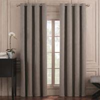 Valeron Belvedere Solid 108-Inch Grommet Top Room-Darkening Window Curtain Panel in Grey