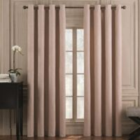 Valeron Belvedere Solid 63-Inch Grommet Top Room-Darkening Window Curtain Panel in Pink