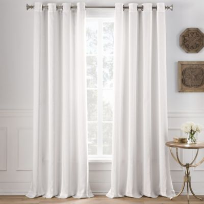 cole stripe 63inch grommet top window curtain panel in off white