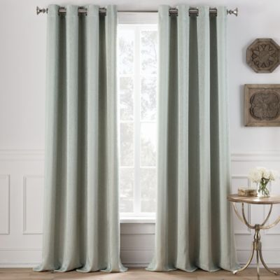 Cole Stripe 63 Inch Grommet Top Window Curtain Panel In Light Green