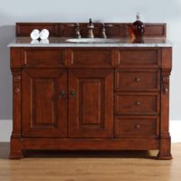 James Martin Furniture Brookfield Single Vanity with Drawers in Warm Cherry