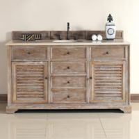 James Martin Furniture Savannah Single Vanity with Galala Stone Top in Driftwood