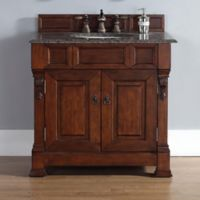 James Martin Furniture Brookfield 2-Door Single Cabinet Vanity in Warm Cherry without Countertop