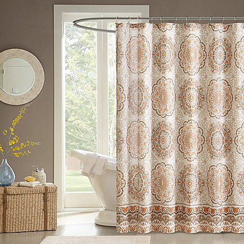 Madison park tangiers shower curtain bed bath beyond - Madison park bathroom accessories ...